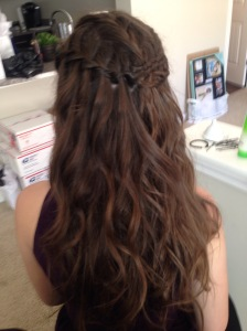 Learned how to do Waterfall Braids on the spot.