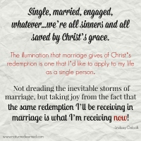 "Alive and Fully Engaged: Facing the Trials of Marriage from the Limbo of ""Engagement"""